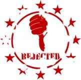 Estampille grunge rejetée Images libres de droits