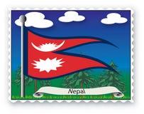 Estampille Népal Image libre de droits