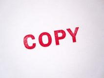 Estampille permissible rouge de copie Image libre de droits