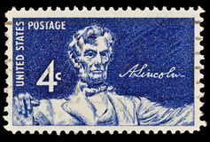 Estampille postale d'Abraham Lincoln Photographie stock