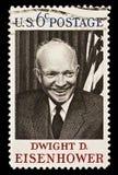 estampille postale de d Dwight Eisenhower photos libres de droits