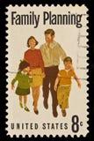 Estampille postale de planification des naissances Photo libre de droits