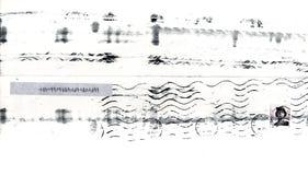 Estampille postale grunge Images libres de droits