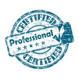 Estampille professionnelle certifiée Photos stock