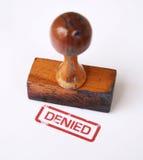 Estampille refusée   Photographie stock libre de droits