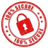 Estampille sécurisée de vecteur Photo stock