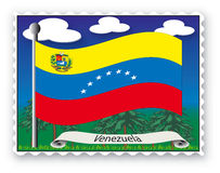 Estampille Venezuela Photos stock