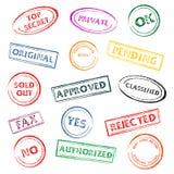 Estampilles colorées illustration libre de droits