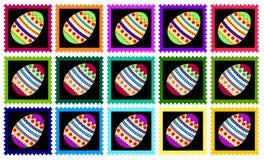 estampilles colorées de Pâques Images libres de droits