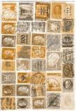 Estampilles d'antiquité Images libres de droits