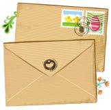 estampilles d'enveloppe de Pâques Images libres de droits