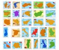 Estampilles d'Union européenne Images libres de droits