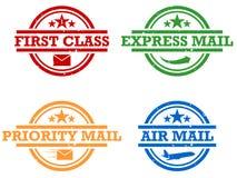 Estampilles de courrier Photographie stock libre de droits