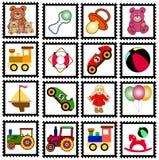 Estampilles de jouets Photos libres de droits