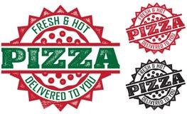 Estampilles de la distribution de pizza illustration libre de droits
