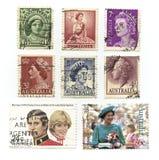 Estampilles de la Reine Elizabeth Images stock