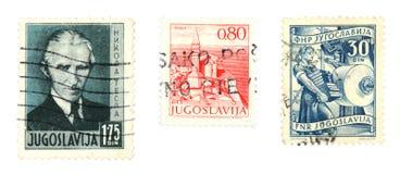 Estampilles de la Yougoslavie Photo libre de droits