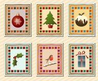 Estampilles de Noël Photos stock