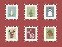 Estampilles de Noël Photographie stock