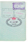 Estampilles de passeport. Image libre de droits