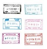 Estampilles de passeport image libre de droits