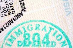 Estampilles de passeport Photographie stock libre de droits