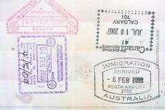 estampilles de passeport Image stock
