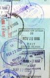 Estampilles de passeport - Iles Cayman Photographie stock libre de droits