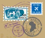 Estampilles de poteau de l'Afrique illustration stock