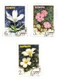Estampilles de Soviétique avec des fleurs Images libres de droits