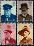 Estampilles de Winston Churchill Photographie stock