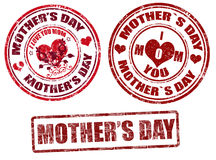 Estampilles du jour de mère Images libres de droits