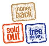 Estampilles en meilleures ventes Image libre de droits