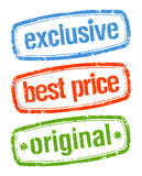 Estampilles en ventes exclusives Image stock