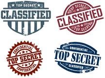 Estampilles extrêmement secrètes Images libres de droits