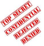 Estampilles extrêmement secrètes Photo stock