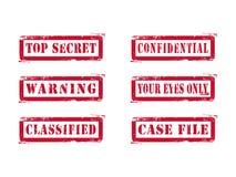 Estampilles extrêmement secrètes sales Image stock