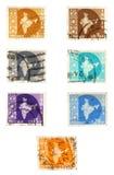 Estampilles historiques de poteau de l'Inde Image libre de droits