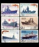 Estampilles militaires soviétiques de thème Photographie stock