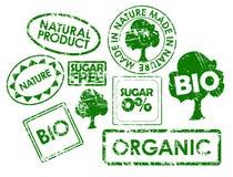 estampilles organiques saines de nourriture Photo libre de droits