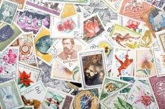 Estampilles postales Photos stock