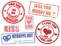 Estampilles Wedding illustration libre de droits