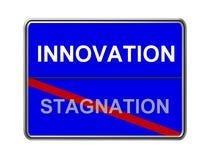 Estancamiento de la innovación no Fotos de archivo libres de regalías