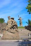 Estancia del monumento a la muerte en Mamaev Kurgan, Stalingrad Fotografía de archivo