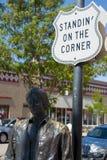 Estando no canto, Winslow AZ Imagens de Stock