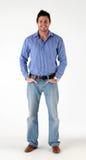 Estando o homem ocasional vestido Fotos de Stock