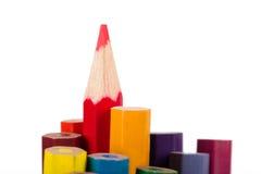 Estando para fora o lápis vermelho Fotografia de Stock Royalty Free