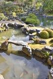 Estanque de peces japonés Foto de archivo libre de regalías