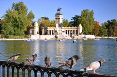 Estanque Grande in Retiro Park in Madrid, Spain Stock Photography