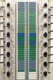 Estante óptico de fibra Foto de archivo libre de regalías